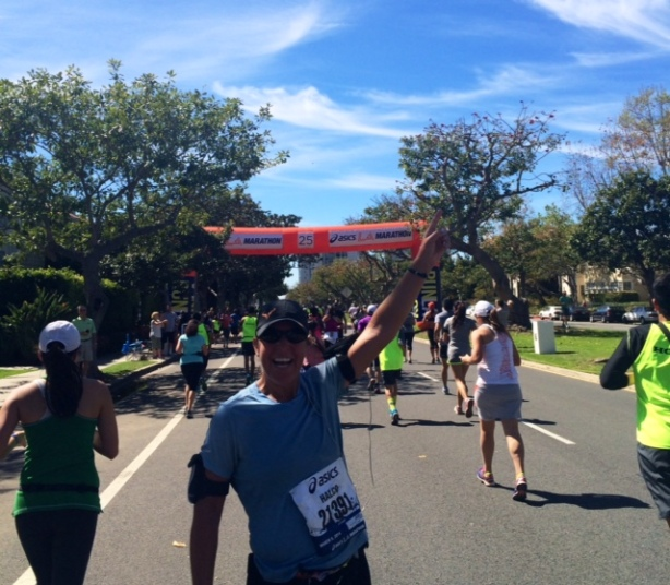 Hally's fourth marathon.  2014 LA Marathon