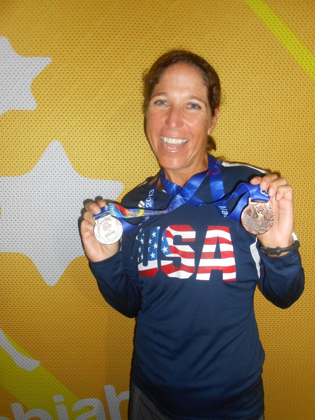 Hally Cohen bringing home Bronze at the Maccabiah Olympic Games 2013.