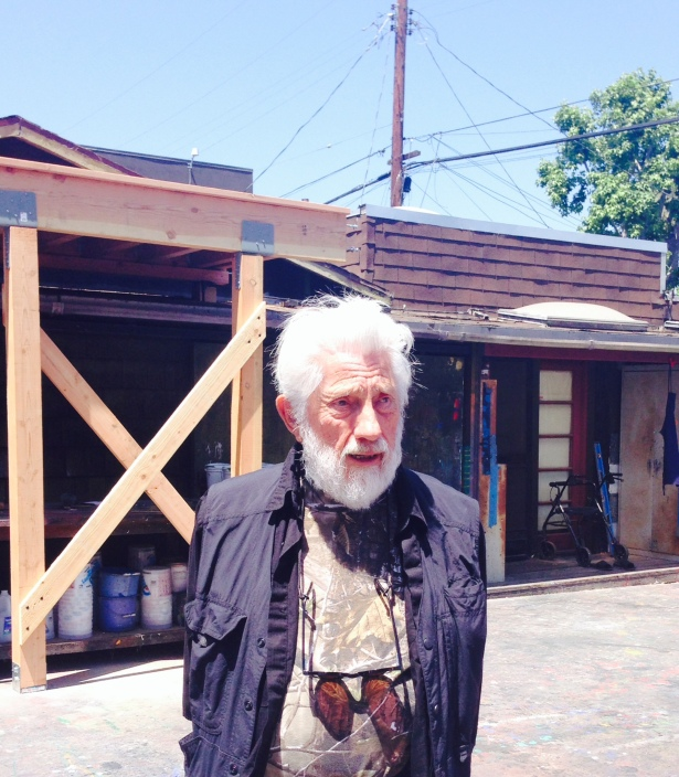 Ed Moses leading a tour of his Venice art studio/residence.
